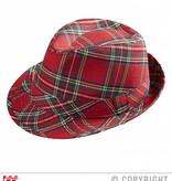 Fedora hoed met Tartan print