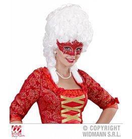 Venetiaans oogamasker rood