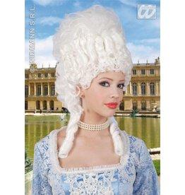 Witte Marie-Antionette pruik
