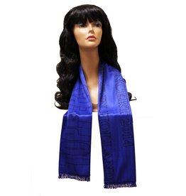 Toppers sjaal blauw