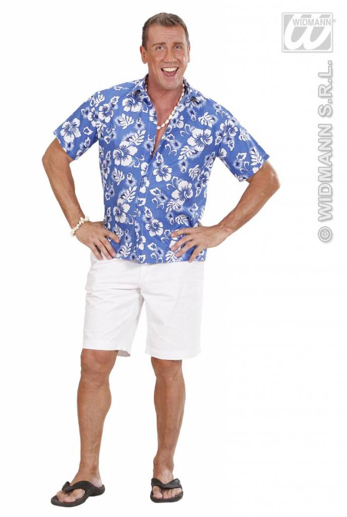 Blauw hawaiishirt