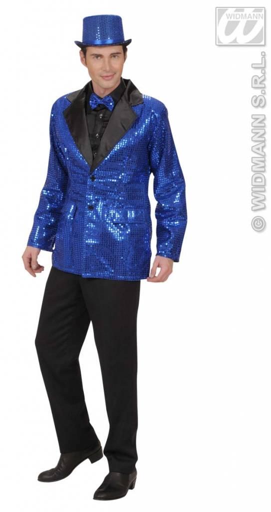 Colbert pailletten blauw
