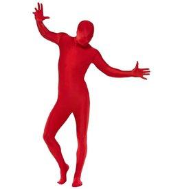 Second skin kostuum rood