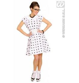 Wit jurkje met petticoat