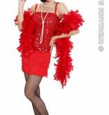 Charleston jurk rood
