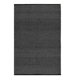Black & White Recycled Cotton Rug Zen