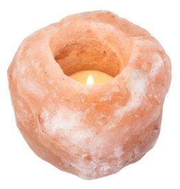 Rosa Himalaya-Salzkristall Teelichthalter