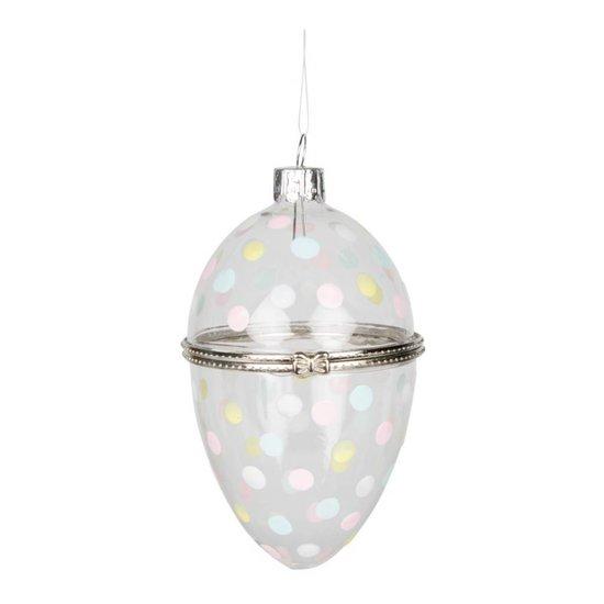 Polka Dot Easter Egg Glass Trinket