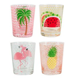 Tropical Glass Tumblers