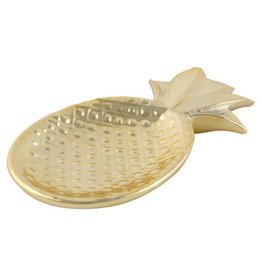 Goldene Ananas-Schale