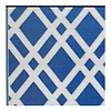 Blau-weißer Rauten Teppich Dublin aus recyceltem Kunststoff
