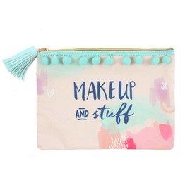 Kosmetiktasche 'Makeup & Stuff' mit Bommeln