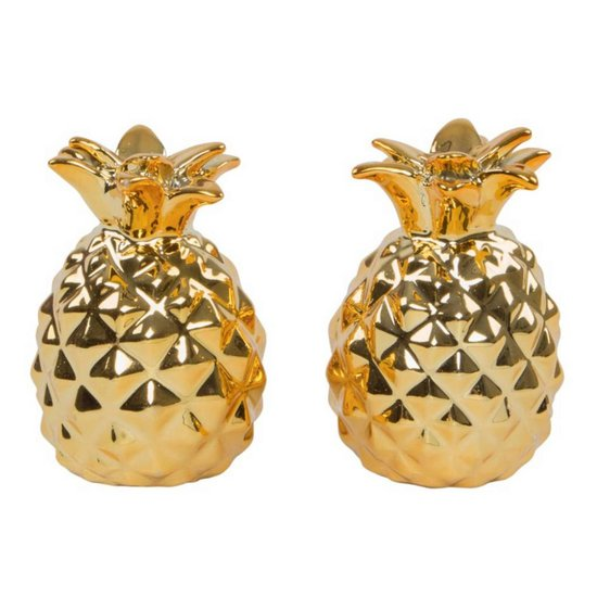 Gold Pineapple Salt & Pepper Shaker