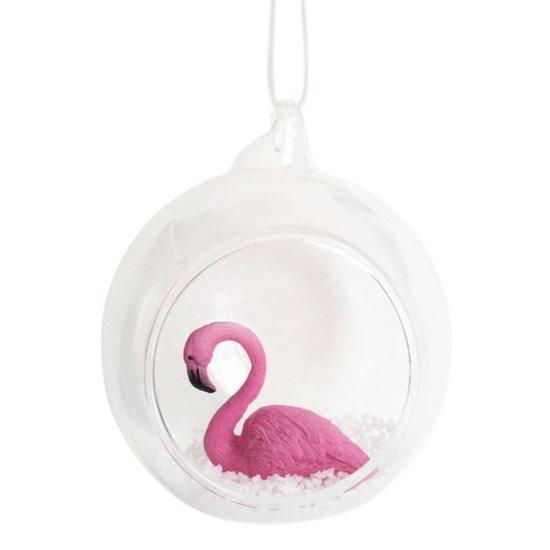 Open Bauble Flamingo