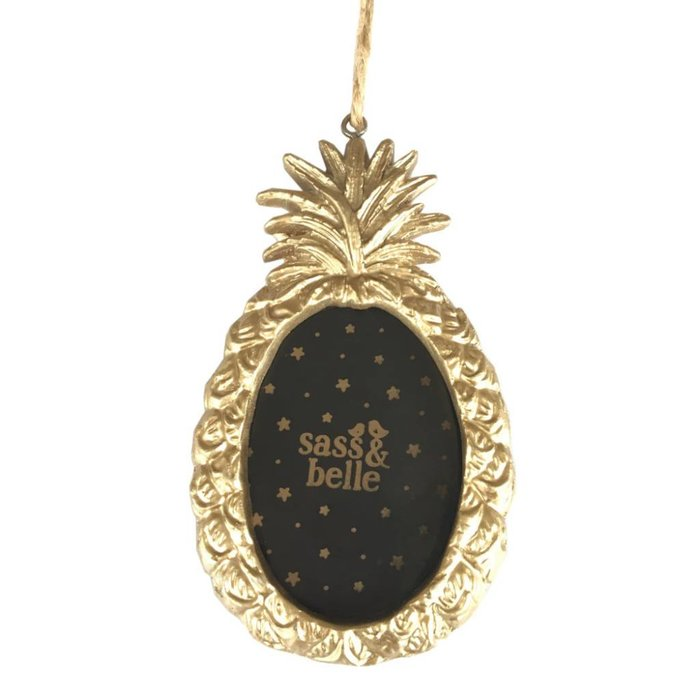 Gold Pineapple Picture Frame Hanging Decoration