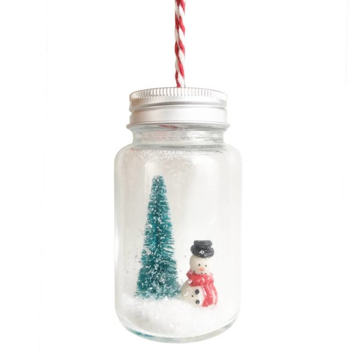 Snowman Christmas Jar Bauble