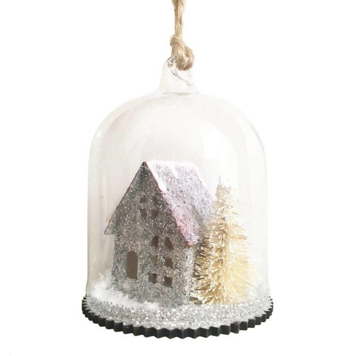 Glitter House Winter Scene Bauble