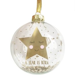 Sleeping Gold Star Bauble 'Sweet Dreams'
