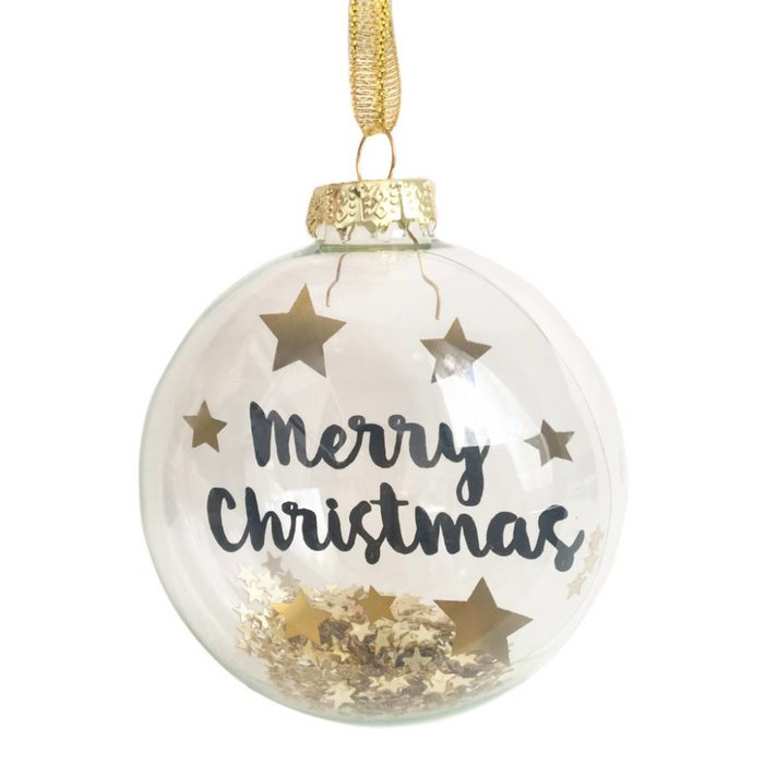 Weihnachtskugel 'Merry Christmas'