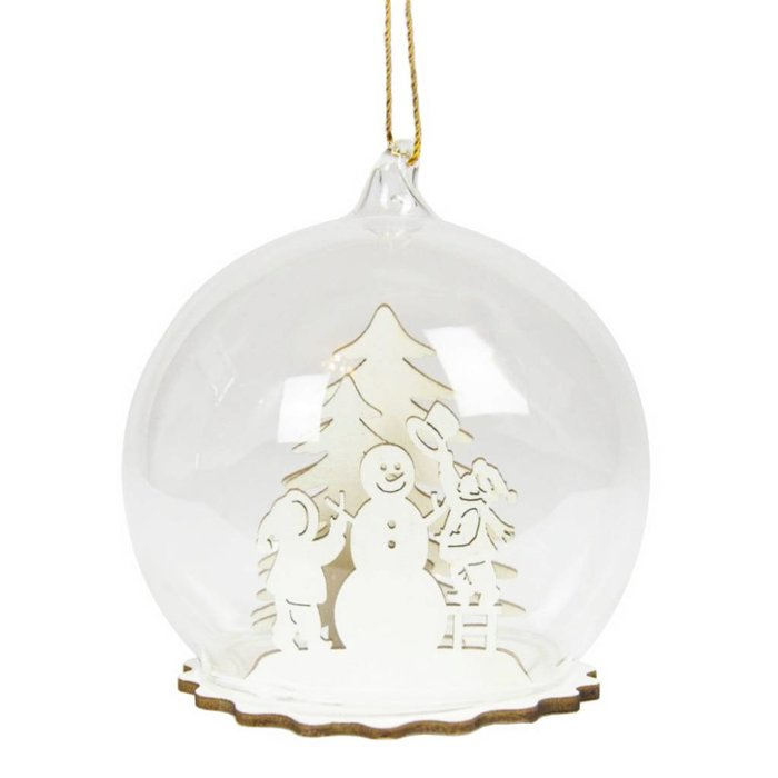 White Winter Snow Dome Bauble