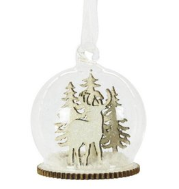 Snowy Winter Forest Dome Bauble