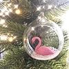 Offene Weihnachtskugel Flamingo