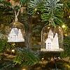 Glitzernde Winterkirche Weihnachtskugel