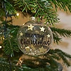 Gold Star-Filled Bauble 'Merry Christmas'