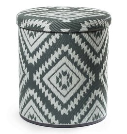 Grey Storage Pouf Valencia