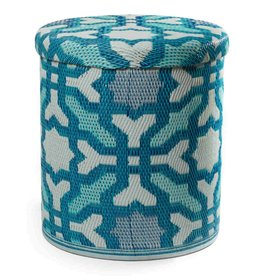 Blue Storage Pouf Seville