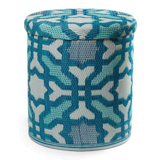 Blue Storage Pouf Seville