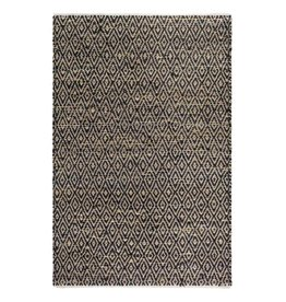 Black Recycled Cotton Jute Rug Madera
