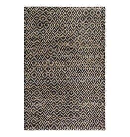 Schwarzer Teppich Madera aus recyceltem Baumwolle-Jute-Mix