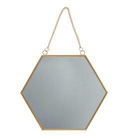 Goldfarbener hexagonaler Spiegel