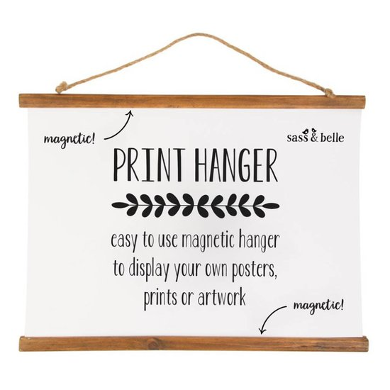 Large Magnetic Wooden Picture Hanger
