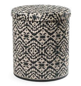 Black Tribal Storage Pouf Kilimanjaro