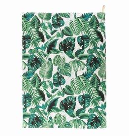 Geschirrtuch mit tropischen Palmenblättern