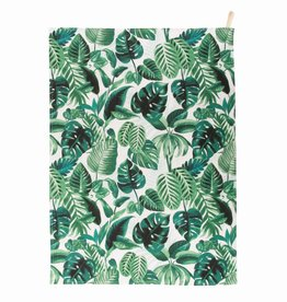 Tropical Palm Leaf Tea Towel