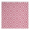 Wendbarer rosa-weißer Teppich Chanler mit Rautenmuster