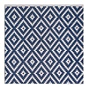 Reversible Diamoned-Shaped Blue & White Rug Chanler