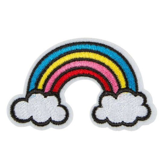 Rainbow Iron-On Patch Accessory