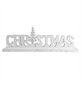 Large Rustic White Christmas Letter Standing