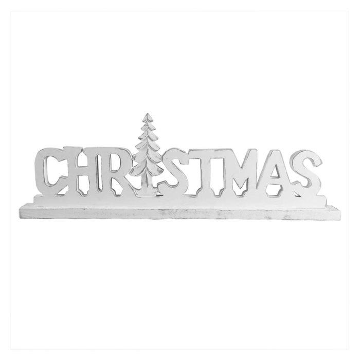 Großer rustikaler 'Christmas' Schriftzug in weiß