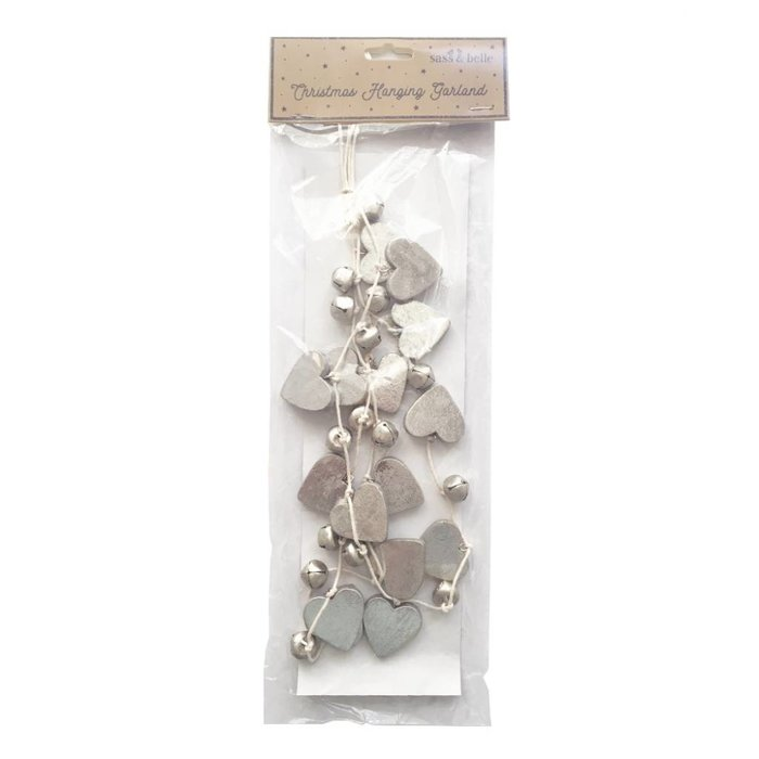 Christmas Hanging Garland with Silver Bells