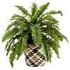 Small Black & White Patterned Seagrass Basket