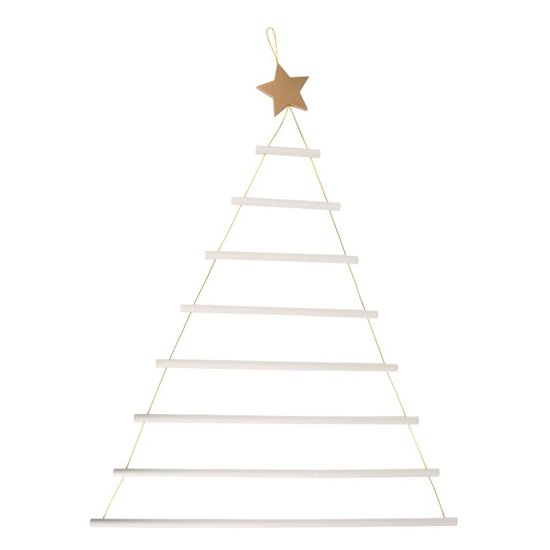 White Hanging Christmas Tree Ladder