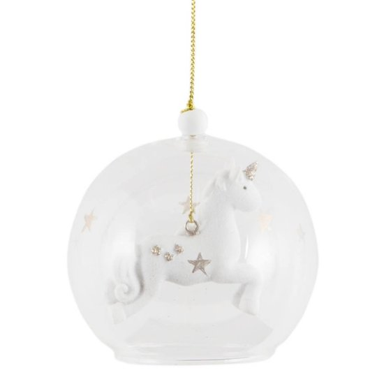 Floating Unicorn Christmas Bauble