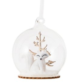 Snow Fox Winter Forest Bauble