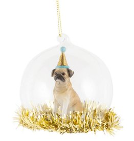 Party Pug Tinsel Bauble