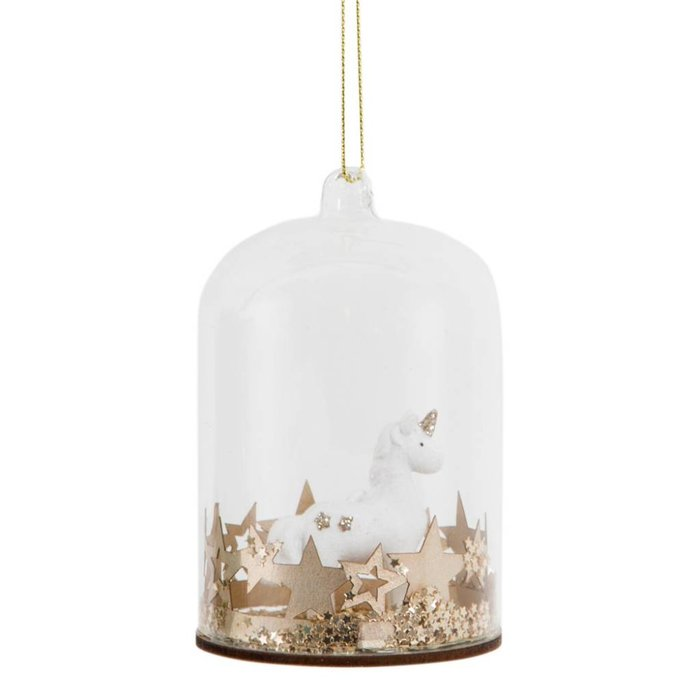 Gold Star Unicorn Bauble